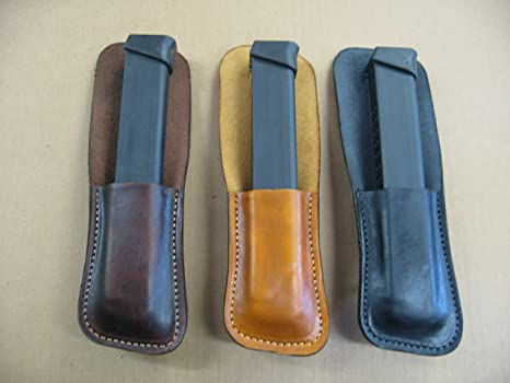 Amazoncom Glock 9mm 33 Round Leather Clip On Owb Belt Extended