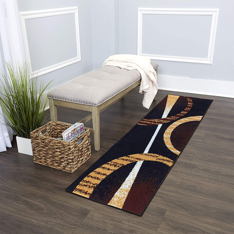 Home Dynamix Indus Modern Area Rug, 2x7, Brown/Cream