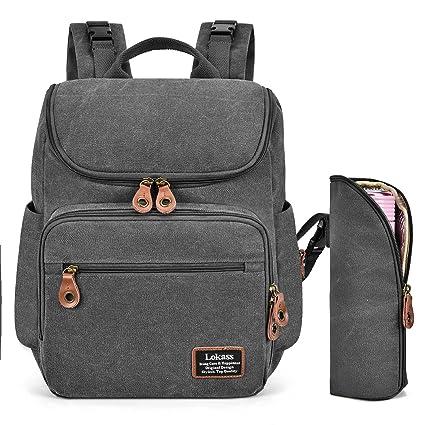 LOKASS Pañal del bebé bolsa Srotek mochila del bolso del panal del bolso de gran capacidad