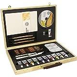Daler Rowney - 126500050 - Kit De Loisirs Créatifs - Coffret Acrylique En Bois Simply