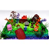 """FINDING DORY 18 Piece Birthday CAKE Topper Set, Featuring Dory, Nemo and Other Sea Friends, Decorative Themed Accessories, Figures Average 1"""" to 2"""" Tall"""