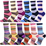 TeeHee Women's Value 12-Pack Fun Crew Socks