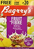 Bagrrys Fruit N Fibre Muesli, Mixed Fruit, 500g + Free Corn Flakes Plus Rs.20