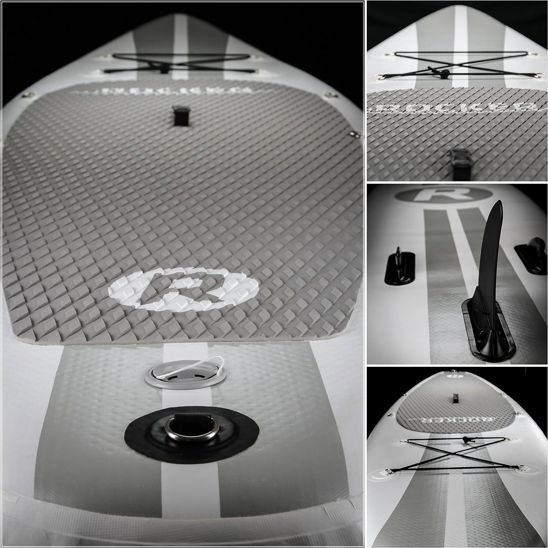 Tabla inflable de paddle surf iRocker, 305x76x15cm Conjunto SUP (Blanco): Amazon.es: Deportes y aire libre