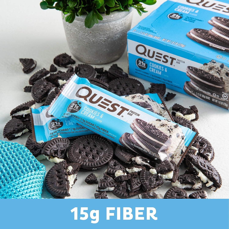 Quest Nutrition Quest Bars Cookies & Cream - 12 Barras ...