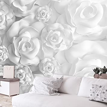 Murando   Fototapete Blumen 3D Effekt 350x256 Cm   Vlies Tapete   Moderne  Wanddeko   Design