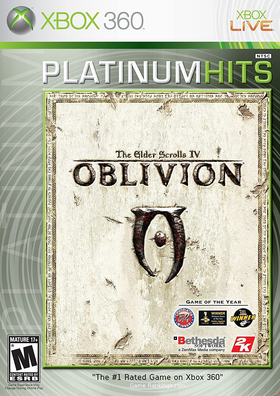 Amazon Com Elder Scrolls Iv Oblivion Xbox 360 Platinum Hits Artist Not Provided Video Games