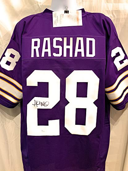 85411edcdef Image Unavailable. Image not available for. Color  Amad Rashad Minnesota  Vikings Signed Autograph Custom Purple Jersey JSA Witnessed Certified