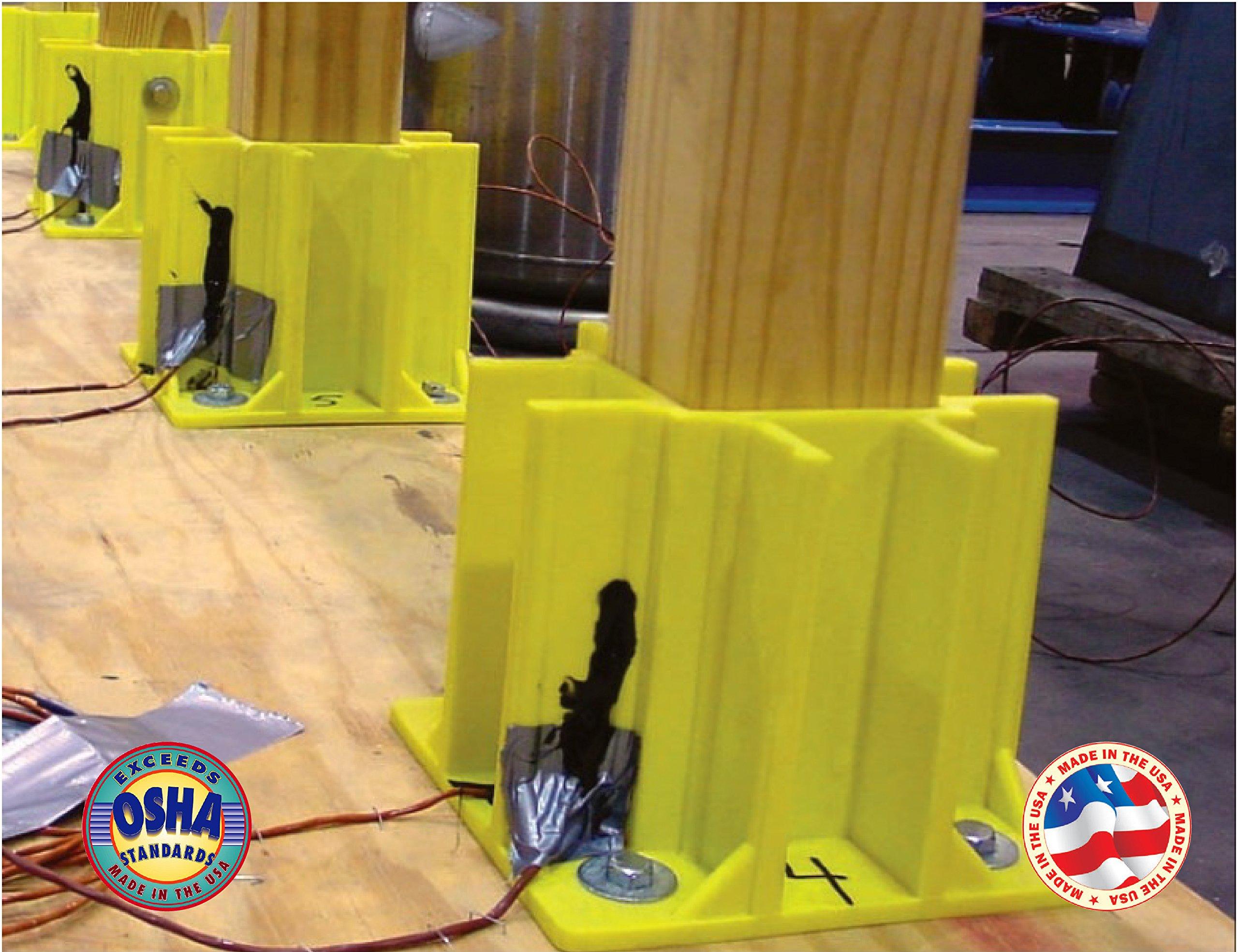 Safety Boot Yellow OSHA Temporary Guard Rail System by Safety Maker (12 Units) by Safety Maker, Inc. (Image #7)