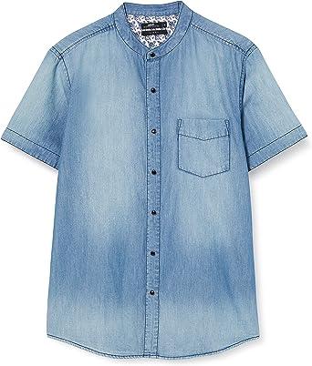 Inside Camisa Vaquera para Hombre: Amazon.es: Ropa y accesorios