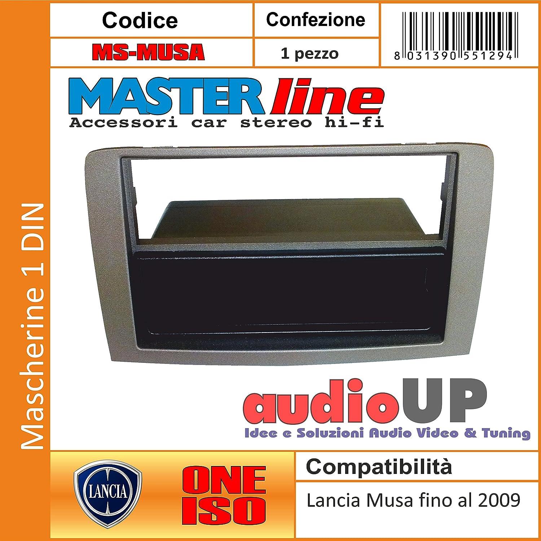 silver oscuro caj/ón soporte organizador extra/íble Color DIN para radio de coche para LANCIA Musa