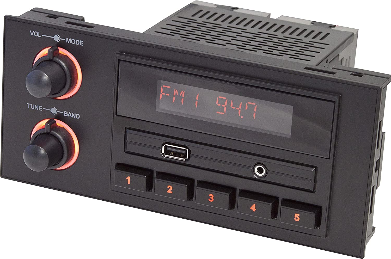 Amazon.com: RetroSound NEW-270-670 Newport Black 1.5 DIN Direct-Fit Radio:  Automotive