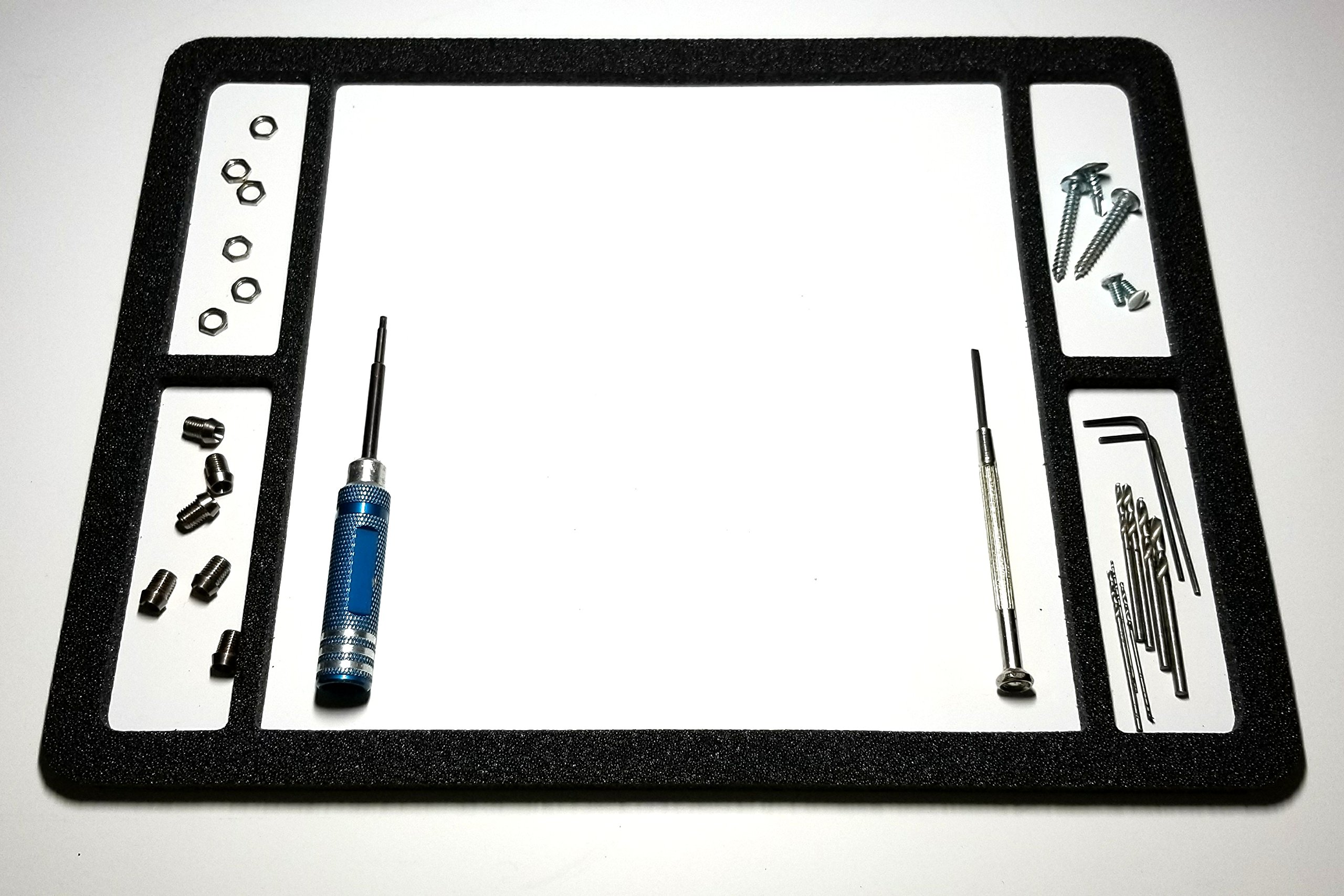 Magnetic Mat, Screw Catcher with 4 Side Corrals (12''x9'') 6 Mil Mat, Highest (MGO) magnetism among sheet mats. Cell Phone Repair, Gun Cleaning, Jewelry, RC, Electronics. Magnetic Work Mat