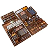Smonex Wooden Organizer and Four Player Boards Compatible with Gloomhaven Board Game - Box Suitable for Storage All…