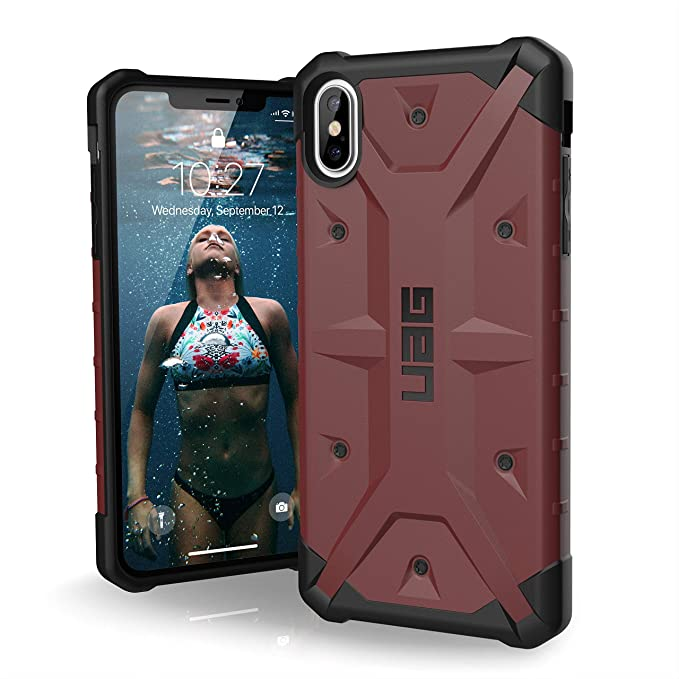 new product b4328 a7a59 URBAN ARMOR GEAR UAG iPhone Xs Max [6.5-inch Screen] Pathfinder  Feather-Light Rugged [Carmine] Military Drop Tested iPhone Case