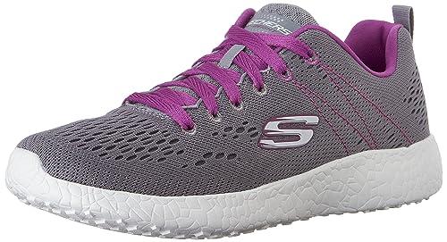 43147a852e36 Skechers Women s Sport-Burst-Adrenaline Engineered Mesh Lace-Up Running Shoe