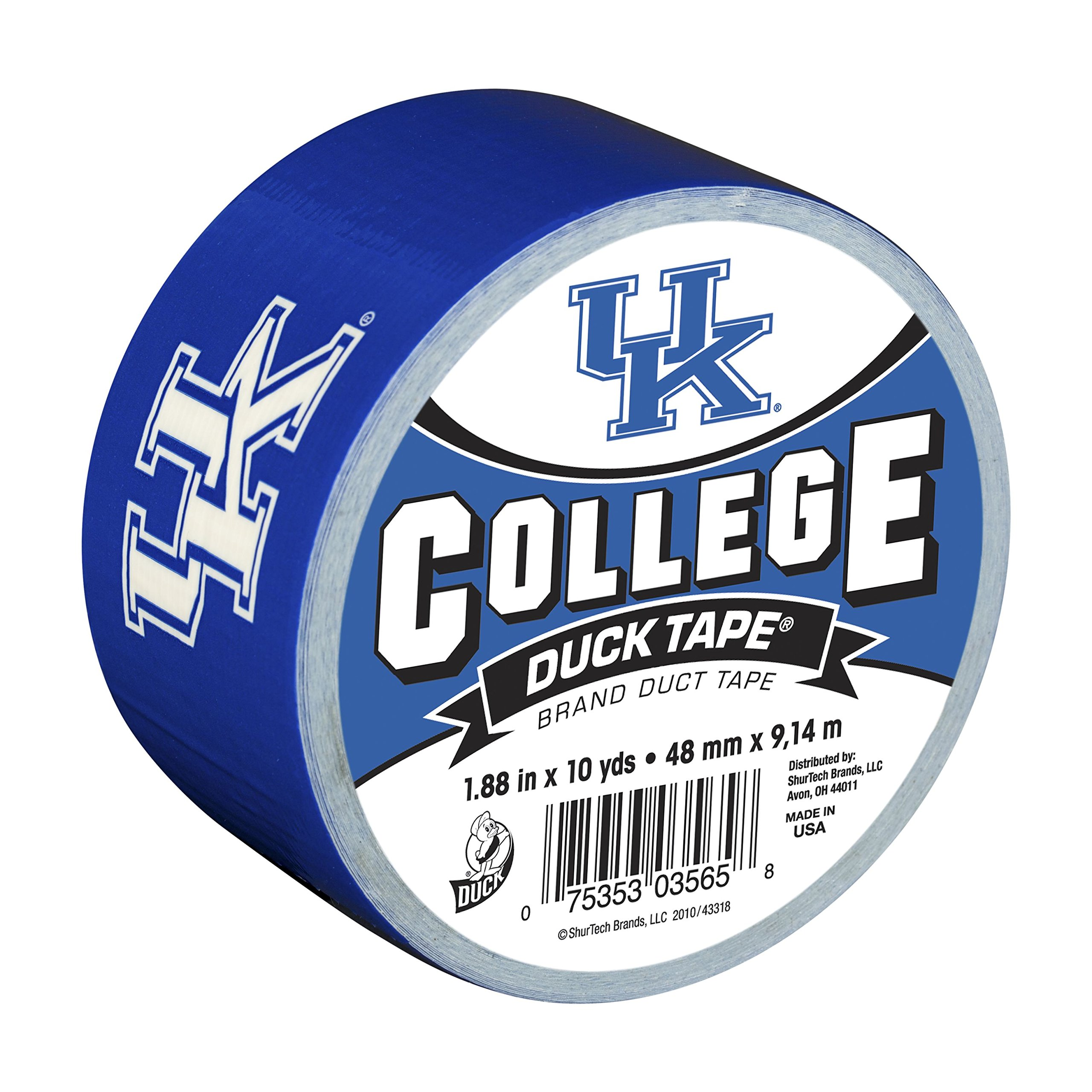 Duck Brand 240268 University of Kentucky College Logo Duct Tape, 1.88-Inch by 10 Yards, Single Roll