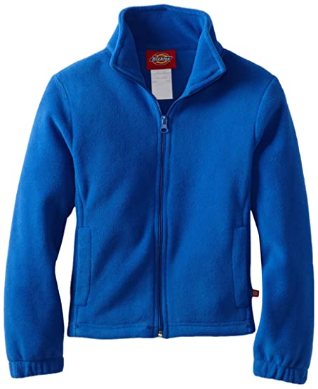 Amazon.com: Dickies Big Girls' Polar Fleece Zip Jacket, Royal Blue ...