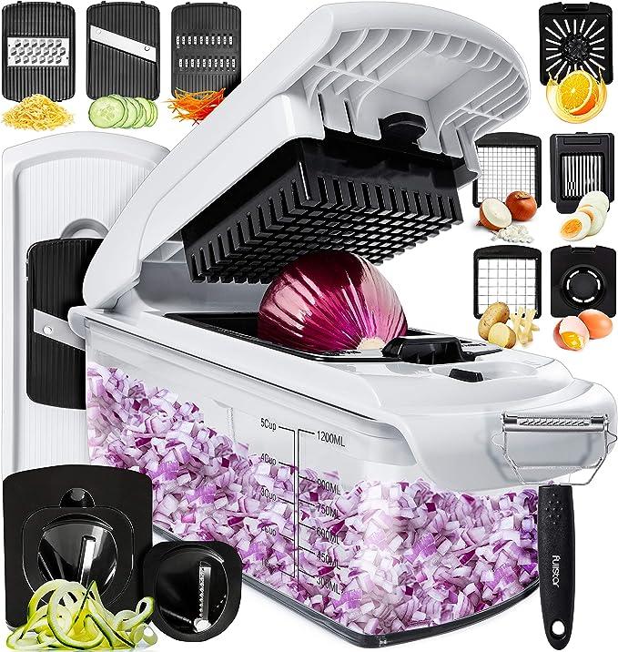 Amazon.com: Fullstar Vegetable Chopper Dicer Mandoline Slicer - Food Chopper Vegetable Spiralizer Vegetable Slicer - Onion Chopper Salad Chopper Veggie Chopper Vegetable Cutter Food Slicer 11 Blades: Kitchen & Dining