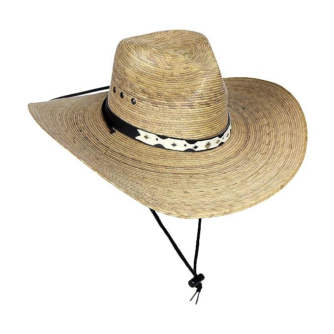 Gran mexicano palm leaf sombrero vaquero con correa para la barbilla sombreros  de hombre jpg 679x679 529e2a27507