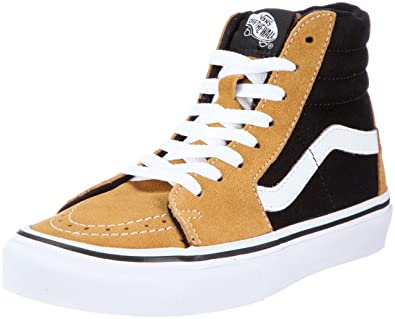 fc7a129d91f476 Vans Unisex - Adults Sk8-Hi (Suede) Honey Mustard Black Trainers Vkya5O3