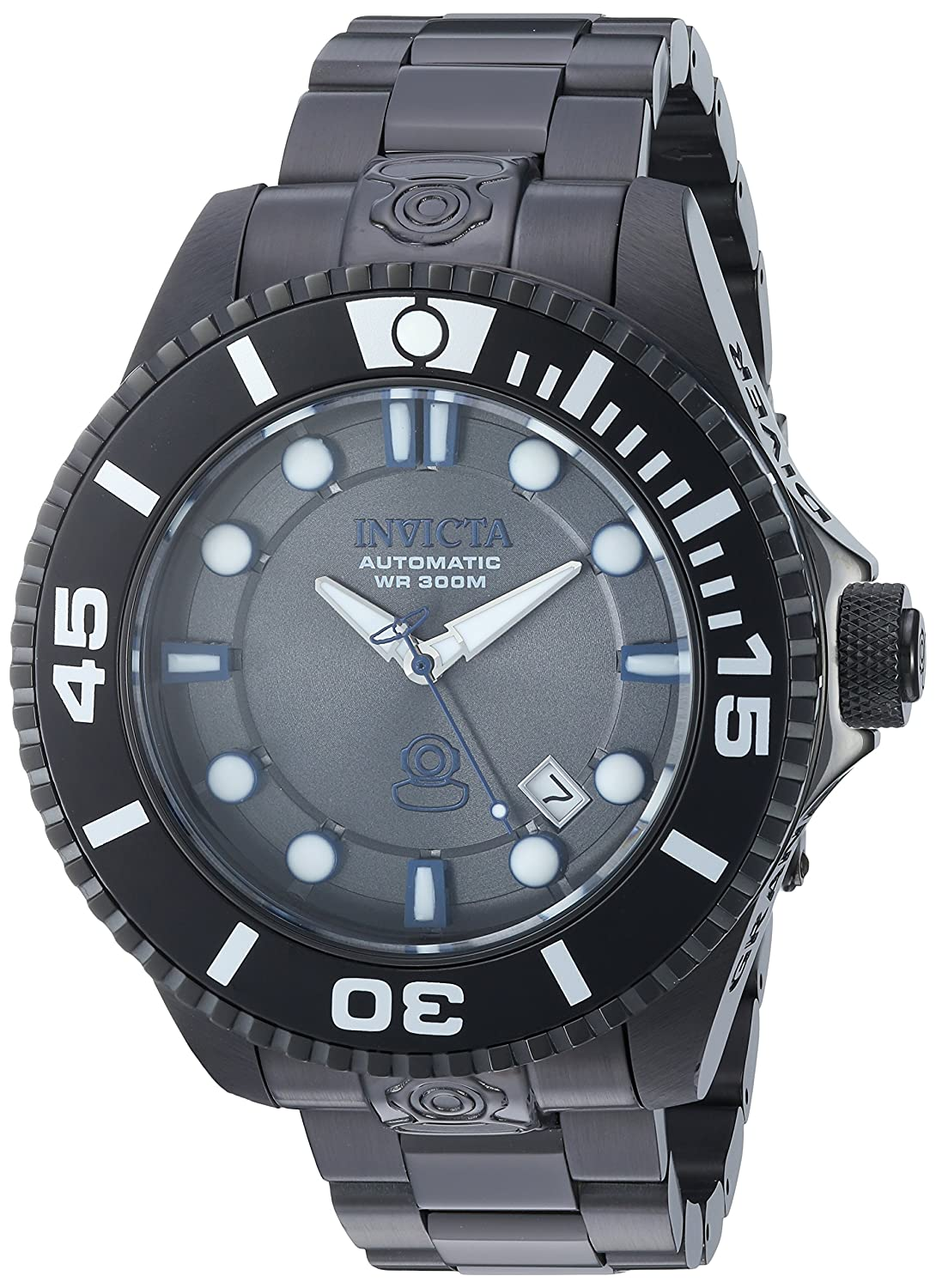 Amazon.com: Invicta Men's 'Pro Diver' Automatic Stainless Steel Casual  Watch, Color:Black (Model: 19808): Invicta: Watches