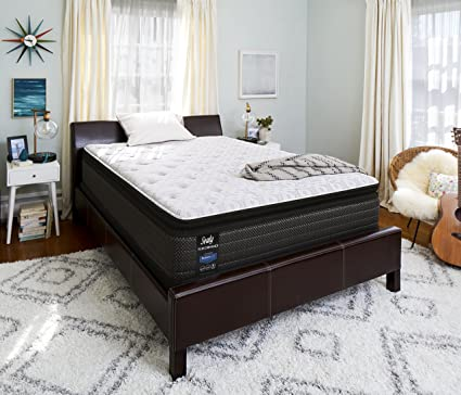 Sealy Response Performance 14 Inch Cushion Firm Euro Pillow Top Mattress Queen Made In Usa 10 Year Warranty