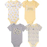 Calvin Klein - Conjunto de 4 Bodies para bebé niña