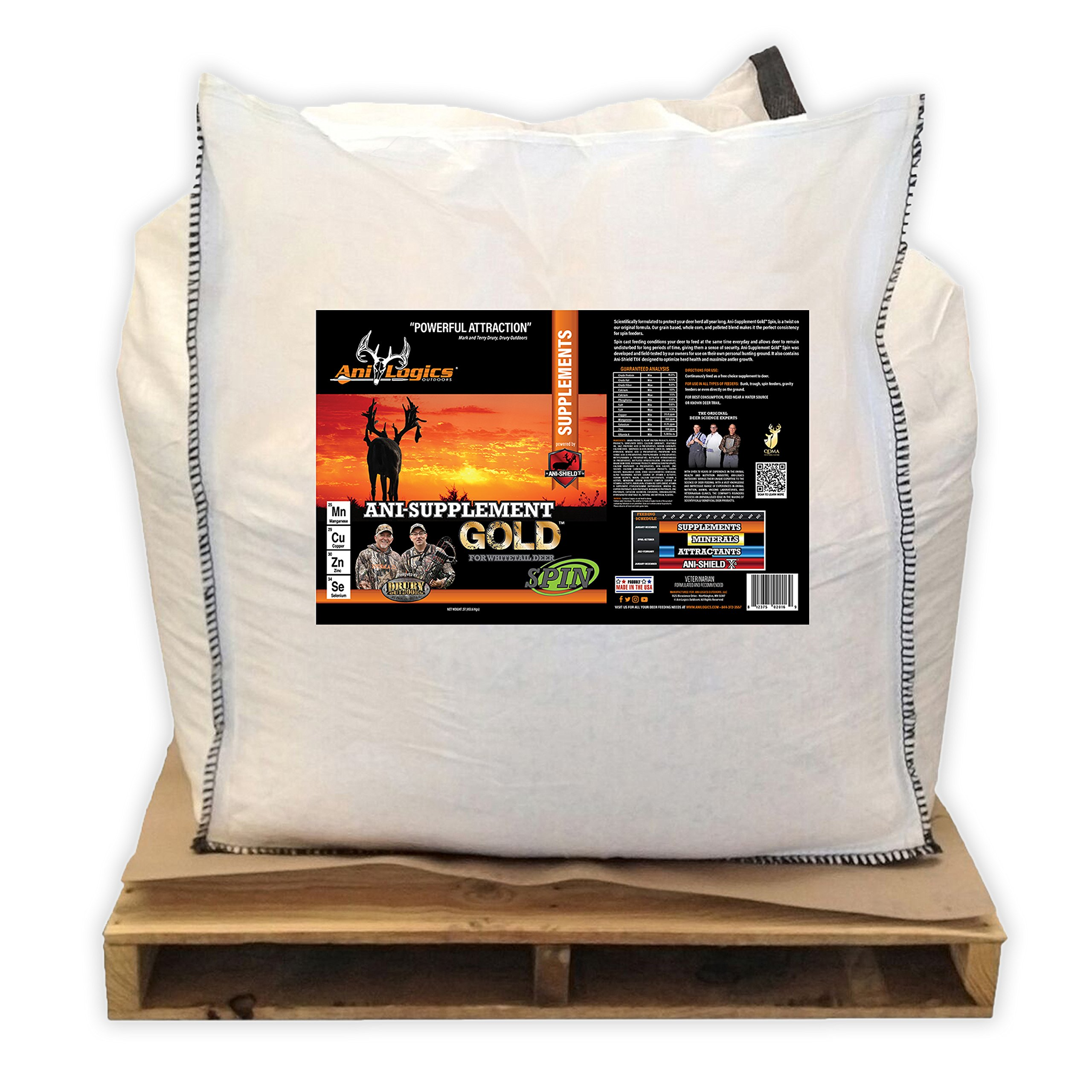 Ani-Logics Outdoors Ani-Supplement GOLD Spin 1/2 Ton Tote