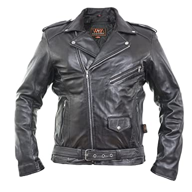 Herren LammSchaffsfell Lederjacke,Motorbike Real Leather