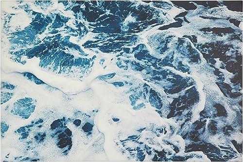 Amazon Brand Rivet Blue Ocean Waves Print Wall Art on Canva