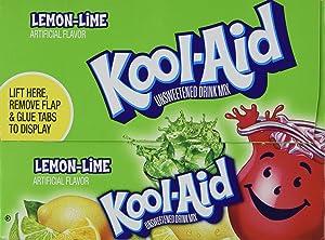 Kool-Aid Lemon Lime Unsweetened Soft Drink Mix, 0.13 Oz (Bonus Pack of 50 Packets)