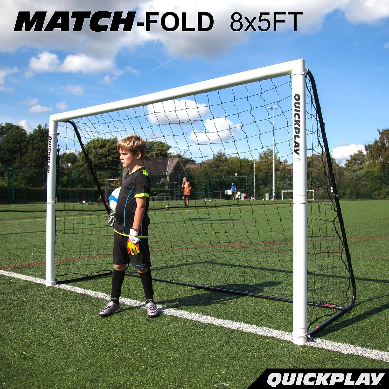 クイックプレイ 組み立て式 サッカーゴール 2.4m×1.5m MF8 UPVCフレーム 折りたたみ サッカー ゴール B01ATO6MQ2