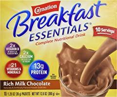Carnation, Breakfast Essentials Powder Drink Mix, Rich Milk Chocolate, 10 Ct