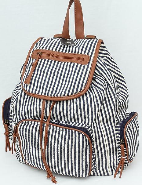 Primark - Bolso mochila para mujer azul Blau / Weiß: Amazon.es: Ropa y accesorios