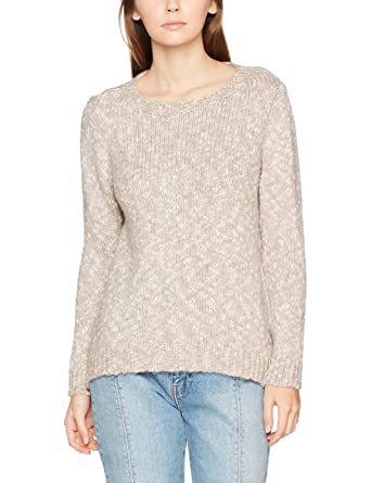 288487b2122 ONLY Women's Onlaubrey L/s Pullover KNT Jumper, White (Cloud Dancer Detail: