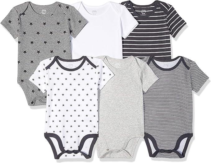 Pack de 6 bodis sin mangas para beb/é Essentials