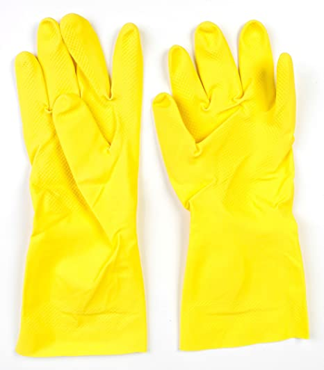 1-pack AX-AY-ABHI-40493 Good Living One-Size-Fits-All Latex Household Gloves for Multiple Uses