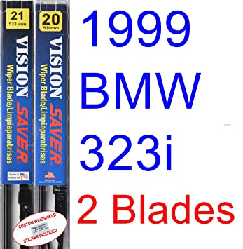 Amazon.com: 1999 BMW 323i Convertible Replacement Wiper Blade Set/Kit (Set of 2 Blades) (Saver Automotive Products-Vision Saver): Automotive