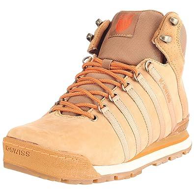 newest collection 8bb51 42c7a Kswiss Men s Classic Hiker High Brown Orange Dark Gum Trainer 02555-291-