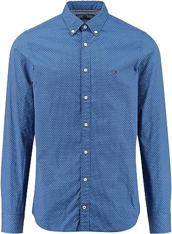 Tommy Hilfiger Camisa Wonderful Azul S Azul: Amazon.es: Ropa ...