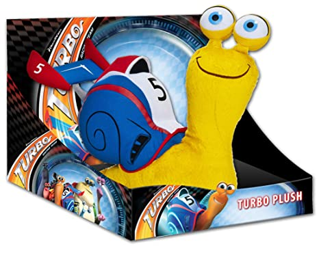 Joy Toy 339953 Turbo - Caracol de peluche en caja expositora (25 cm),