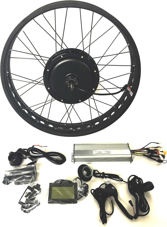 48V1500W Hub Motor EBike Bicicleta ELÉCTRICA KIT DE CONVERSIÓN 4.0 Fat Rim + LCD + Tire Theebikemotor