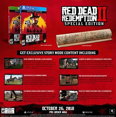 Red Dead Redemption 2 - Special Edition for Xbox One USA: Amazon ...