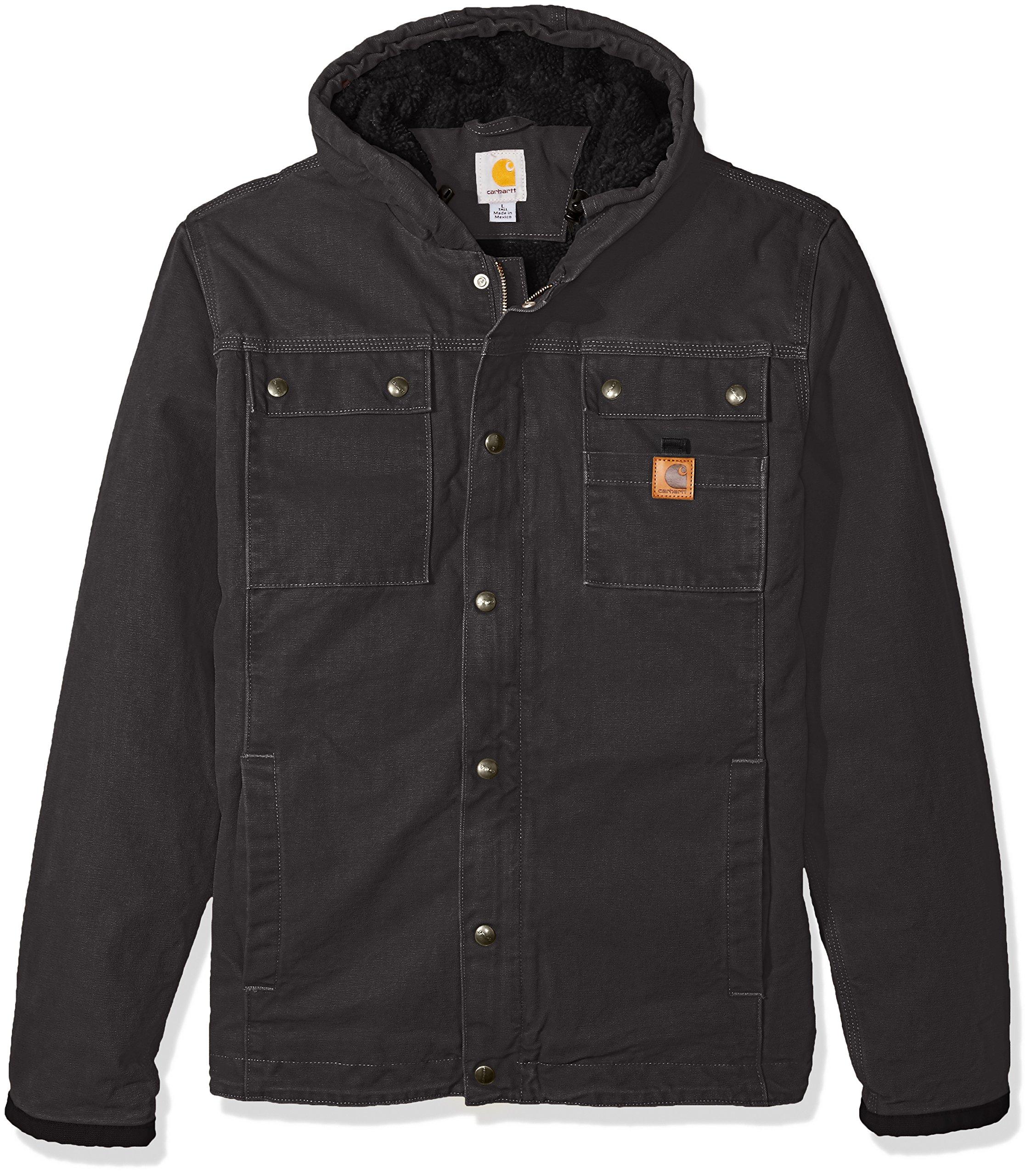 Carhartt Men's Big & Tall Bartlett Jacket, Gravel, 4X-Large by Carhartt (Image #1)