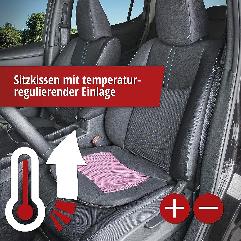 blau Autositzkissen Sitzkissen k/ühlend Sitzpolster Walser 27025 Sitzkissen Cool Touch schwarz