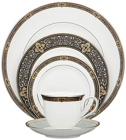 Lenox Vintage Jewel Platinum-Banded Bone China 5-Piece Place Setting Service for  sc 1 st  Amazon.com & Amazon.com | Lenox Vintage Jewel Platinum-Banded Bone China 5-Piece ...