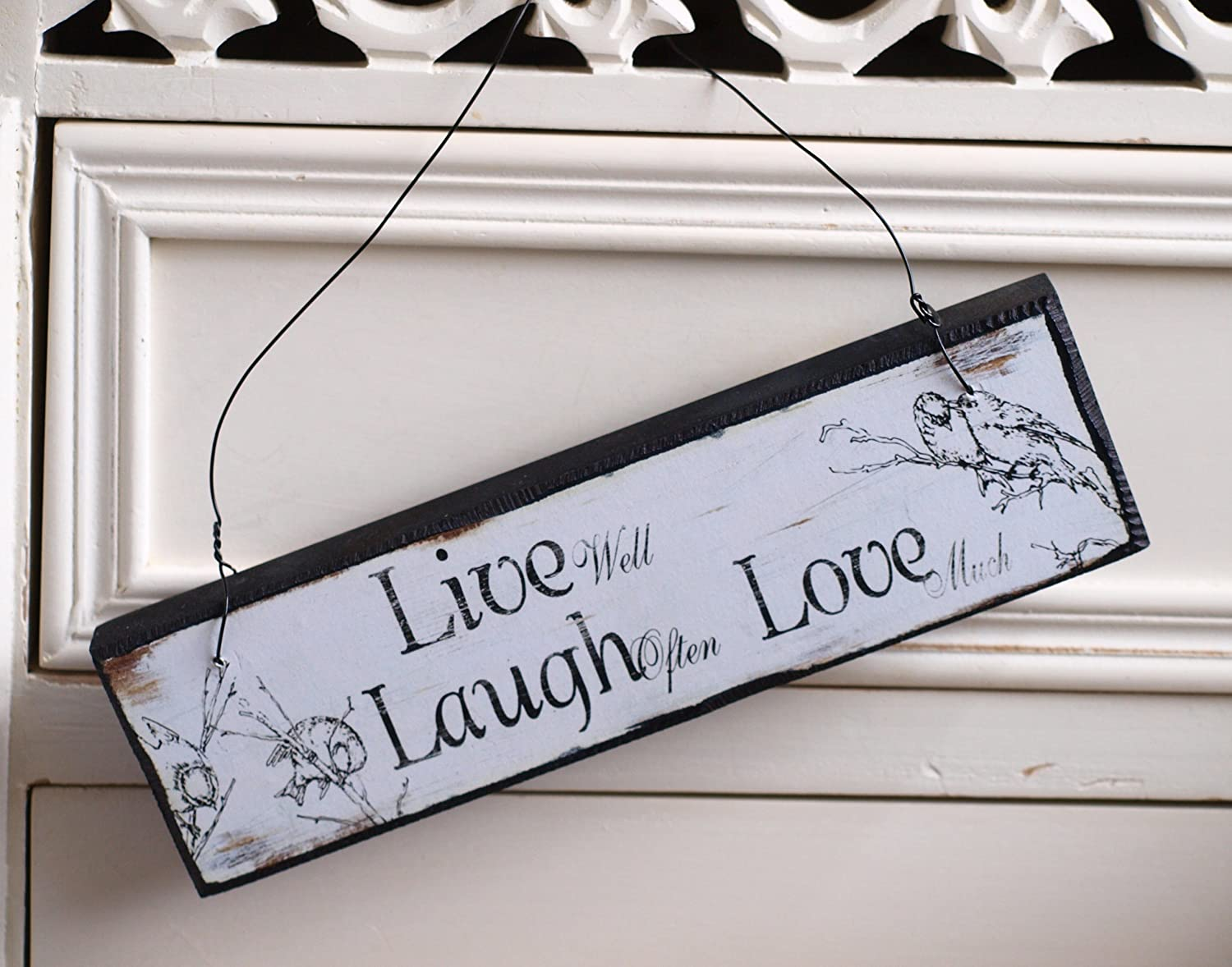 Live Well Laugh Often Love Much Hanging Plaque Brand New