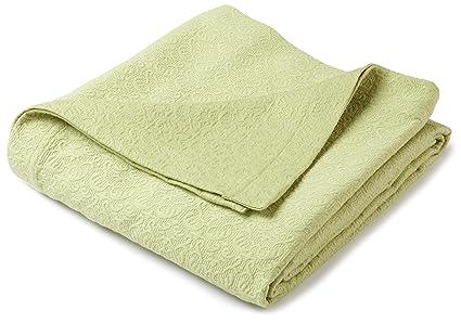 Pinzon Avalon Matelasse Jacquard Coverlet   Twin, Green
