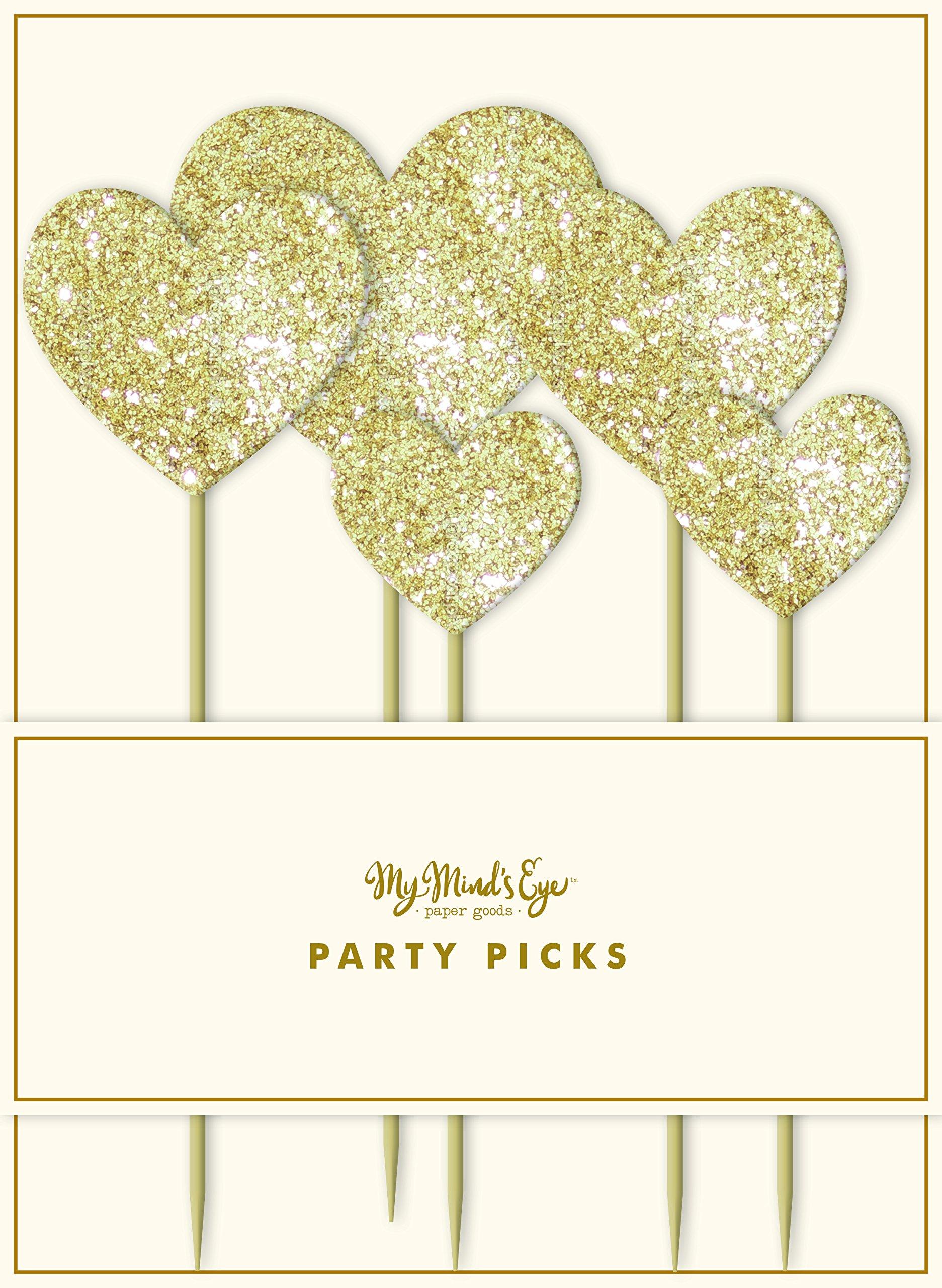 My Mind's Eye Fancy Heart Party Picks, 5 Count by My Mind's Eye
